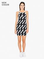 Printed Cotton Spandex Mini Length Dress