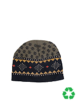 Recycled Cotton Acrylic Fair Isle Beanie
