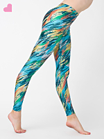 Brush Printed Shiny Legging