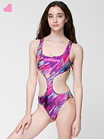Brush Printed Shiny Chic Swimsuit