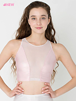 Shiny Peek-a-Boo Crop Top