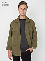 Cotton Twill Military Jacket