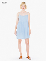 Denim Spaghetti Strap Babydoll Dress