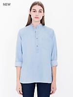 Unisex Mandarin Collar Shirt