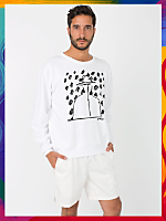 NeoMax Screen Printed Drop-Shoulder French Terry Sweatshirt - Hatted Man