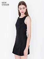 Gabardine Sleeveless Mini Dress