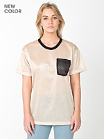 Unisex Athletic Contrast Pocket Tee