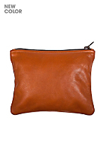Small Leather Carry-All Pouch