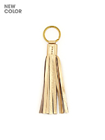 Small Leather Tassel Keychain