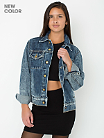 Unisex Acid Wash Denim Jacket