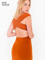 Ponte Off-Shoulder Cross Back Dress