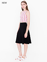 Ponte Midi A-Line Skirt
