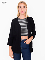 Rayon Challis Woven Long Sleeve Baseball Blouse
