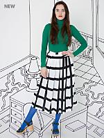 Nathalie Du Pasquier Gaza Print Rayon Challis Long Skirt