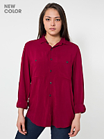 Unisex Rayon Long Sleeve Button-Up