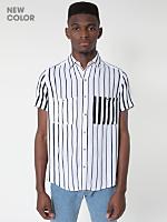 Printed Rayon Short Sleeve Button-Up Shirt