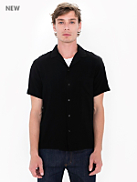 Camp Collar Button Down Short Sleeve Shirt