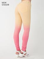 Dip Dye Four-Way Stretch Twill High-Waist Side Zipper Pant