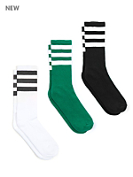 Stripe Calf-High Sock (3-Pack)