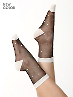 Sheer Patterned Sock