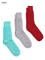 Calf-High Seed Stitched Trouser Sock (3-Pack)