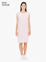 Washed Silk Mid Length Shift Dress