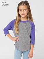 Kids' Tri-Blend 3/4 Sleeve Raglan