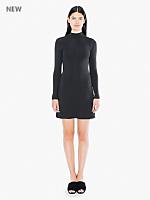 Rib Long Sleeve Mock Neck Mini Dress