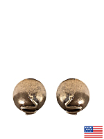 Round Dome Post Earrings