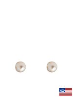 5mm Pearl Stud Gold Plated Post Earrings