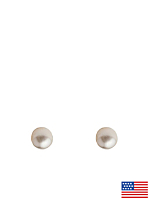 3mm Pearl Stud Gold Plated Post Earrings