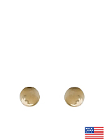 5mm Ball Stud Gold Plated Post Earrings