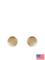 3mm Ball Stud Gold Plated Post Earrings