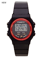 Red Timeco Circles Wristwatch