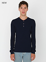 Indigo Thermal Long Sleeve Henley