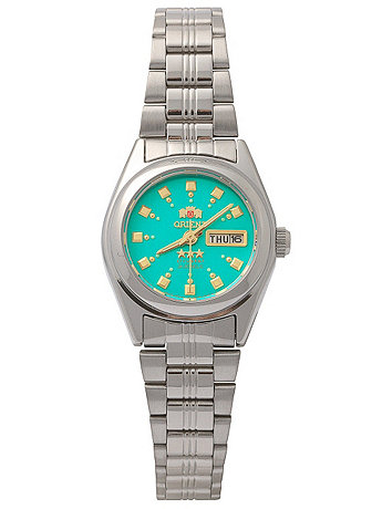 Orient Silver & Emerald Ladies Analog Watch