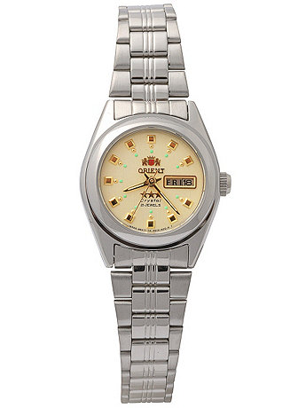 Orient Silver & Gold Ladies Analog Watch