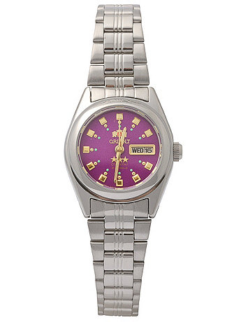 Orient Silver & Purple Ladies Analog Watch