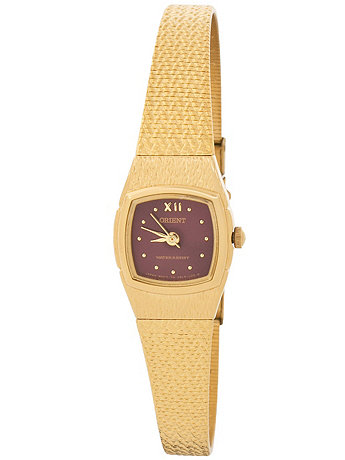 Orient Gold & Burgundy Ladies Analog Watch