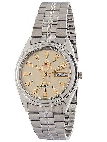 Orient Silver & Gold Analog Watch