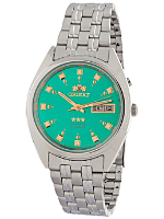Orient Silver & Kelly Green Analog Watch