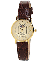Philip Persio Brown Leather Analog Watch