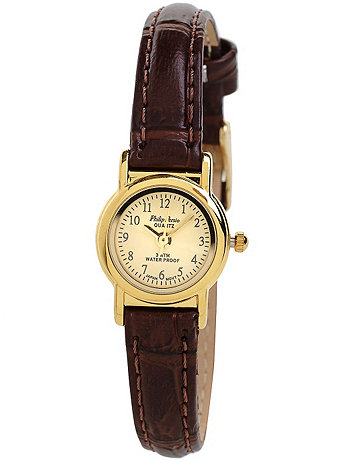 Philip Persio Brown Leather Ladies Analog Watch