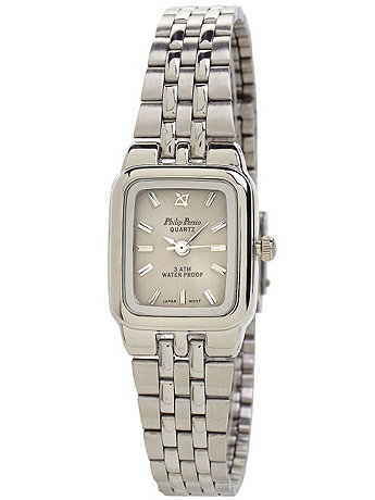 Philip Persio Silver & Grey Ladies Analog Watch