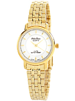 Philip Persio Gold & White Ladies Analog Watch