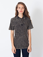 Unisex Acid Wash Piqué Tennis Shirt