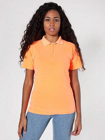 Unisex Highlighter Piqué Tennis Shirt