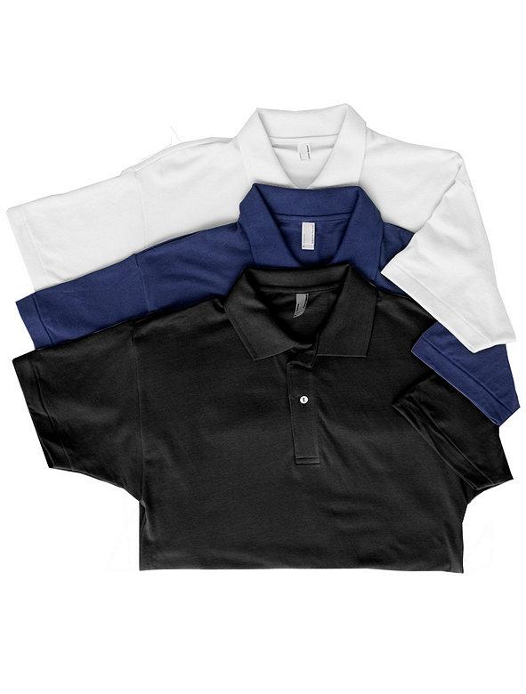 Cotton Piqué Tennis Shirt (3-Pack)