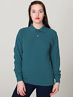 Unisex Piqué Long Sleeve Shirt