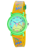 PTL12M-9 Casio Yellow Resin & Green Analog Watch